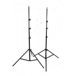 2 x 2.4m stands with top screw and wing nut