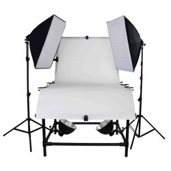 Large Pro Photo Table Package with 2 large softboxes and under table lamps