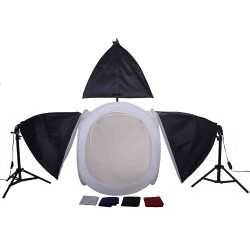 60cm Cube & 3 softboxes with 2 stands and  boom kit