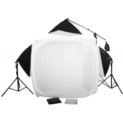 120cm Cube & 3 softboxes with 2 stands and  boom kit
