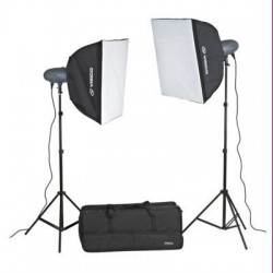 2 x Visico 400W VL Plus Studio Lighting Kit with radio trigger