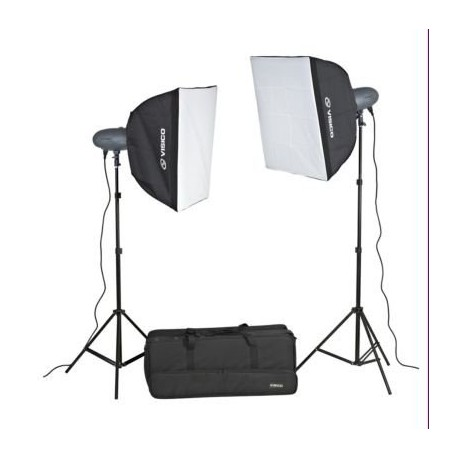 2 x Visico 400W VL Studio Lighting Kit with radio trigger and controller