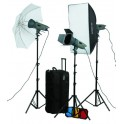 3 x 400W VE Plus series Studio Lighting Kit