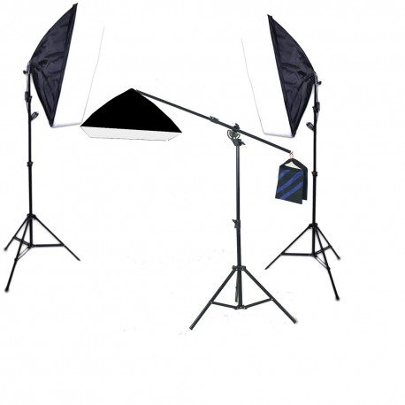 Continuous Softbox kit x 3 with Boom stand