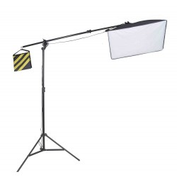 Heavy duty boom arm kit and 50cm x 70cm collapsible softbox with 135W bulb