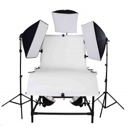 Pro Large Photo Table Package with 3 large softboxes for product photography