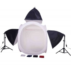 80cm Cube & 3 softboxes with 2 stands and  boom kit