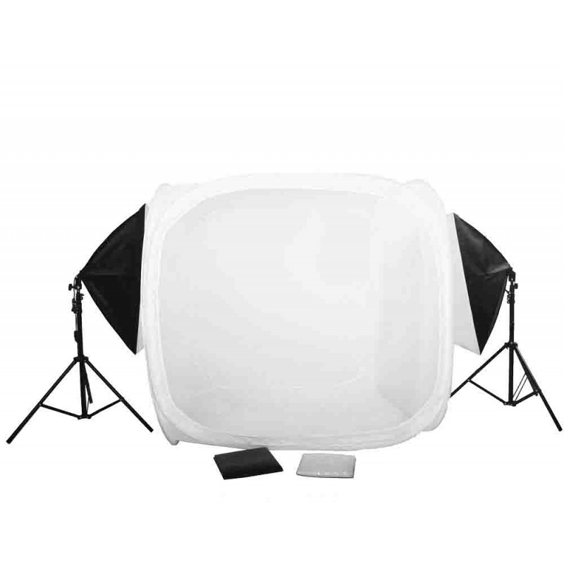 ... 120cm Cube light tent KIt with 2 large softboxes and stands ...  sc 1 st  StudioWorks Corp & 120cm Cube light tent KIt with 2 softboxes and stands