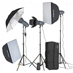 3 x Visico 400W VL Plus Studio Lighting Kit with radio trigger