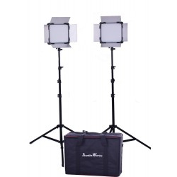 2 x LED 528 Light panel and 2 stands and bag kit