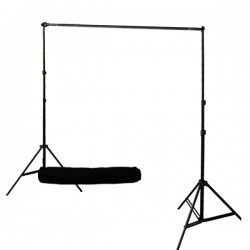 2.4m x 3m Background System + Carrying Bag and 3 clamps