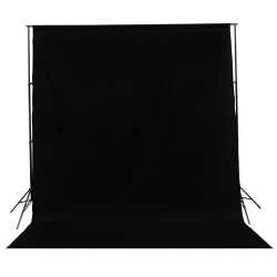 Black fabric muslin backdrop 3 x 6m 150g