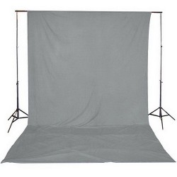 Grey fabric muslin backdrop 3 x 6m 150g