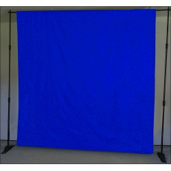 Blue fabric muslin backdrop 3 x 6m 150g