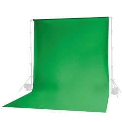 Green Chromakey fabric muslin backdrop 3 x 6m