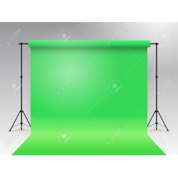 Green Chromakey paper roll backdrop 2.72m x 11m