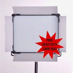 LED 2000 Bi Color Light panel DMX for photography and video + stand and carry bag